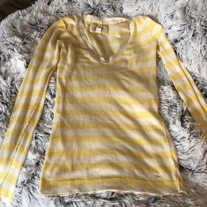 Yellow striped long sleeve tee